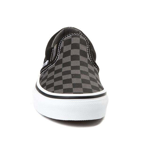 alternate image alternate view Vans Slip On Checkerboard Skate Shoe - Little Kid / Big Kid - Black / GreyALT4