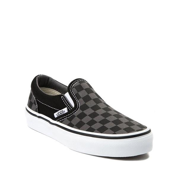 alternate image alternate view Vans Slip On Checkerboard Skate Shoe - Little Kid / Big Kid - Black / GreyALT5