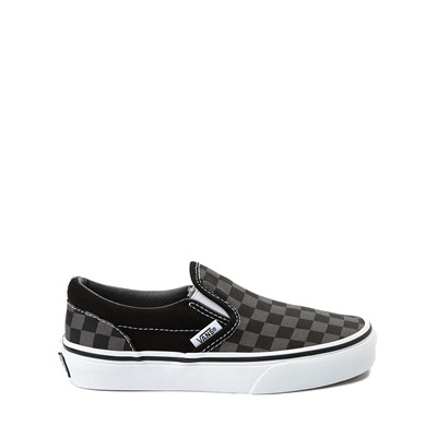 Main view of Vans Slip On Checkerboard Skate Shoe - Little Kid / Big Kid - Black / Grey