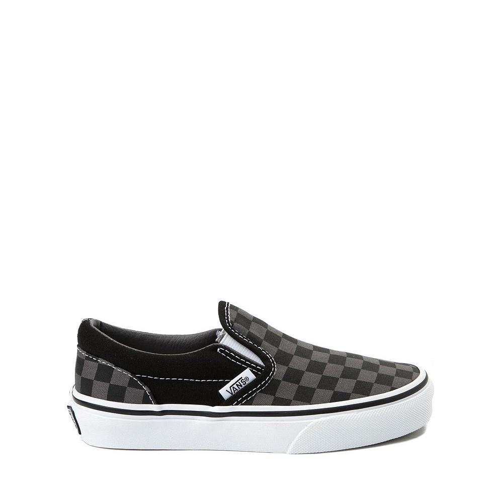 Vans Slip On Checkerboard Skate Shoe - Little Kid / Big Kid - Black / Grey