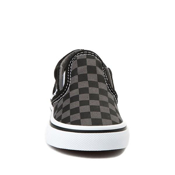 alternate view Vans Slip On Checkerboard Skate Shoe - Baby / Toddler - Black / GreyALT4