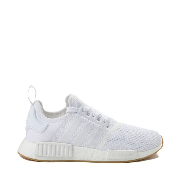 Mens adidas NMD R1 Athletic Shoe - White / Gum