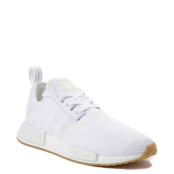 alternate image alternate view Mens adidas NMD R1 Athletic Shoe - White / GumALT1