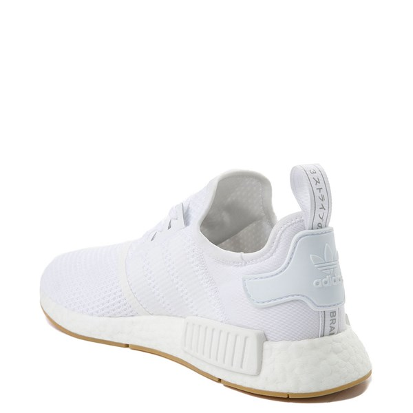 alternate image alternate view Mens adidas NMD R1 Athletic Shoe - White / GumALT2