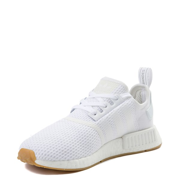 alternate image alternate view Mens adidas NMD R1 Athletic Shoe - White / GumALT3