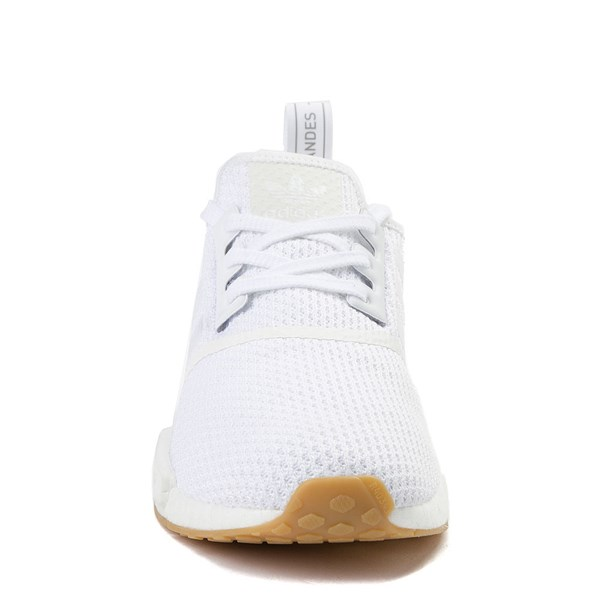 alternate image alternate view Mens adidas NMD R1 Athletic Shoe - White / GumALT4