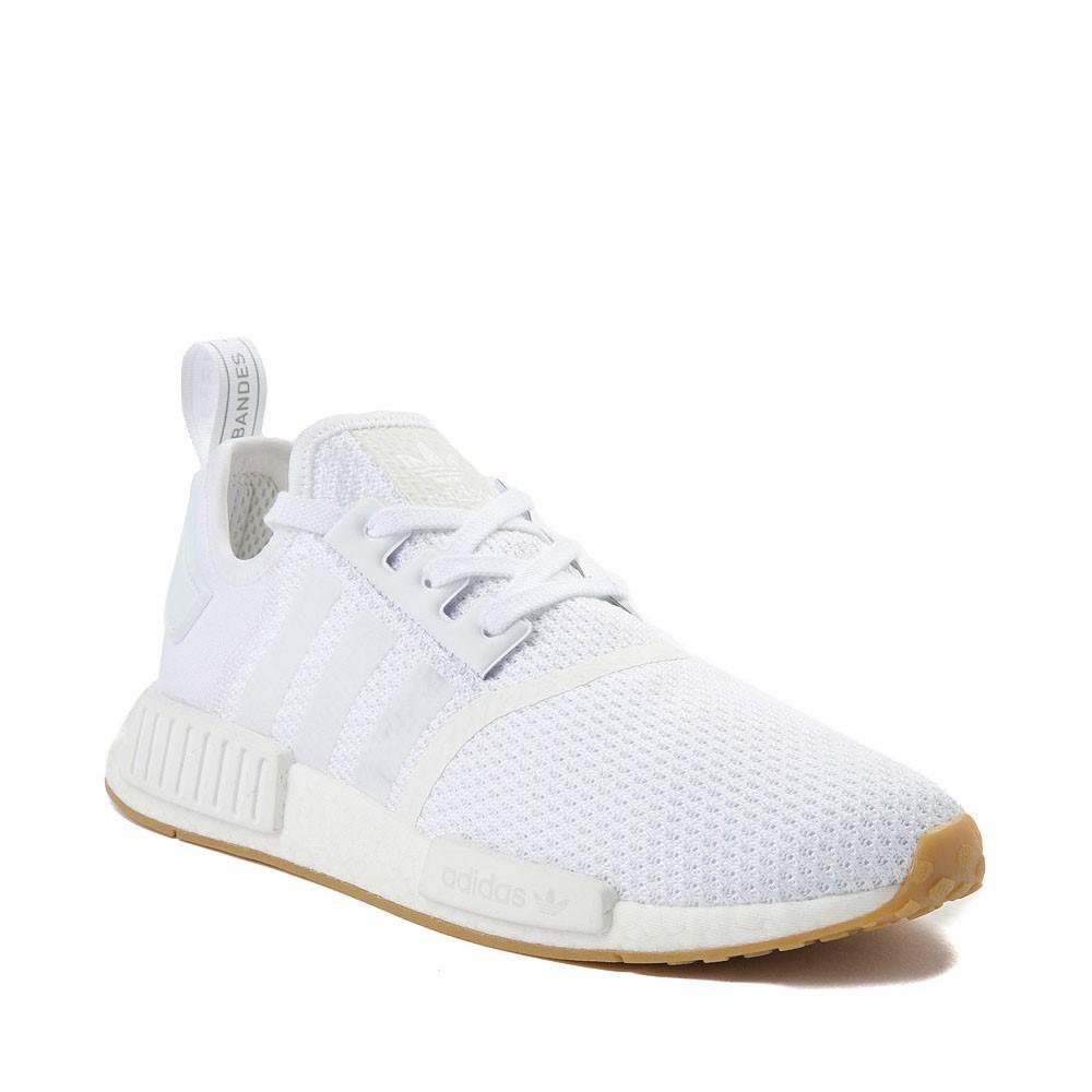 Mens adidas NMD R1 Athletic Shoe - White / Gum