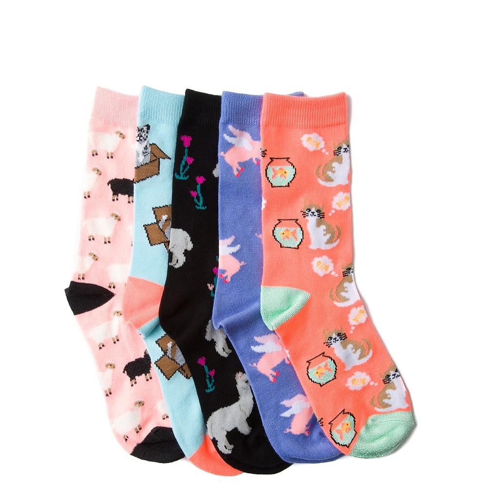 Womens Critter Crew Socks 5 Pack