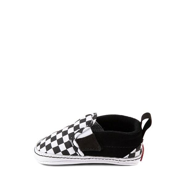 alternate view Vans Slip On V Checkerboard Skate Shoe - Baby - Black / WhiteALT1