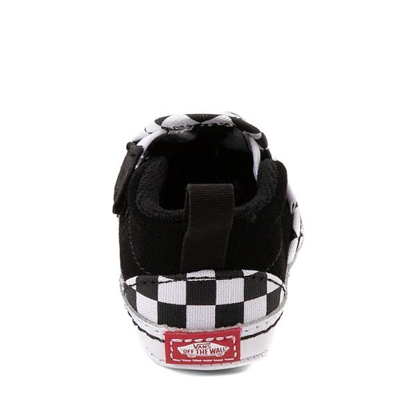 alternate view Vans Slip On V Checkerboard Skate Shoe - Baby - Black / WhiteALT4