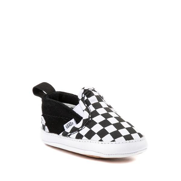 alternate view Vans Slip On V Checkerboard Skate Shoe - Baby - Black / WhiteALT5