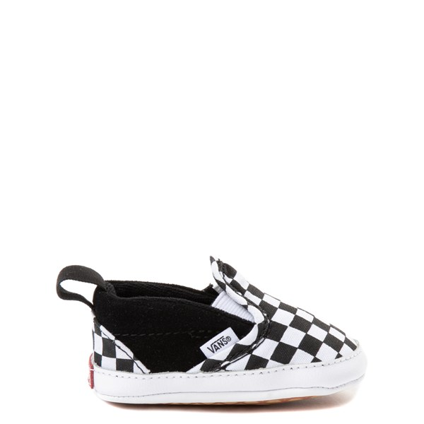 Main view of Vans Slip On V Checkerboard Skate Shoe - Baby - Black / White