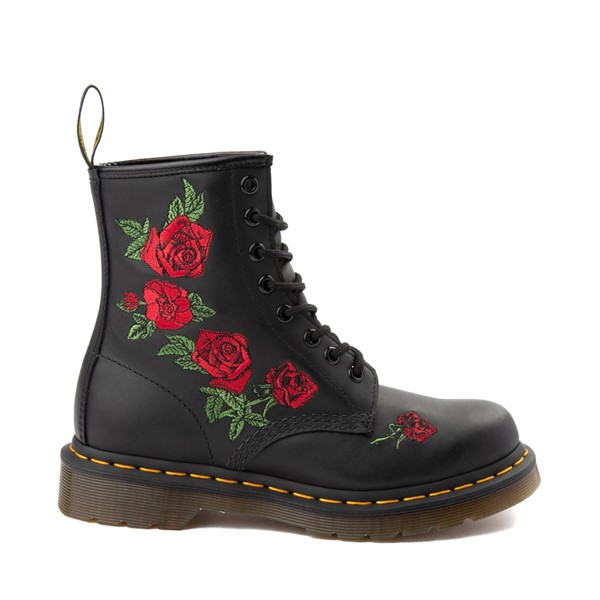 Main view of Womens Dr. Martens 1460 Vonda Roses Boot - Black