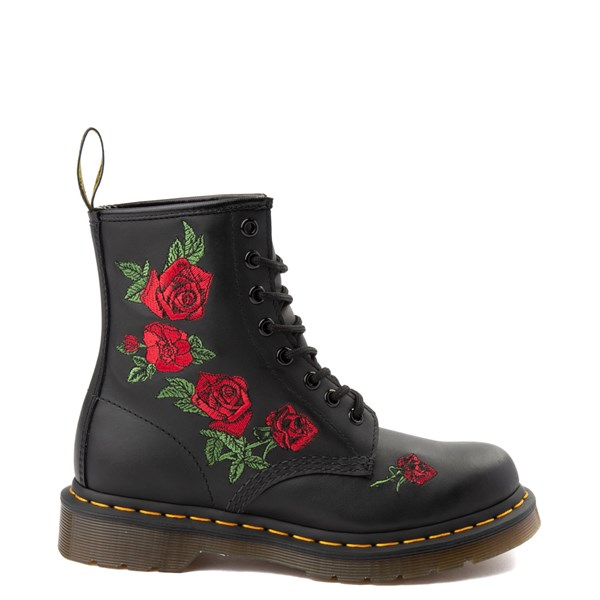 Main view of Womens Dr. Martens 1460 Vonda Roses Boot - Black