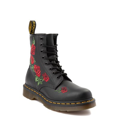 Alternate view of Womens Dr. Martens 1460 Vonda Roses Boot - Black