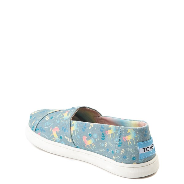 alternate image alternate view TOMS Classic Unicorn Slip On Casual Shoe - Little Kid / Big KidALT2