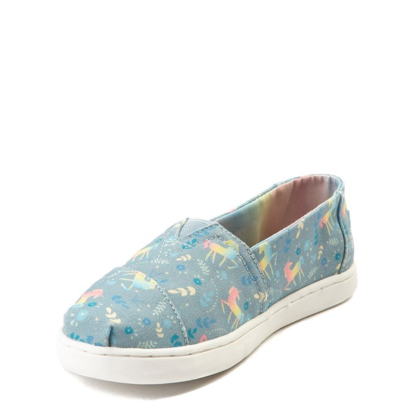 alternate image alternate view TOMS Classic Unicorn Slip On Casual Shoe - Little Kid / Big KidALT3