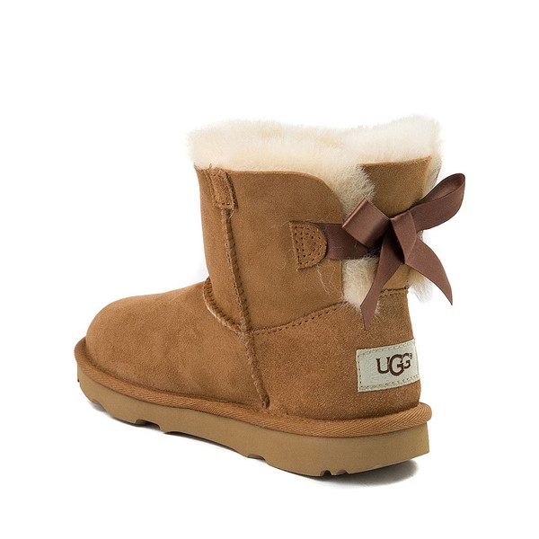 alternate image alternate view UGG® Mini Bailey Bow II Boot - Little Kid / Big Kid - ChestnutALT1