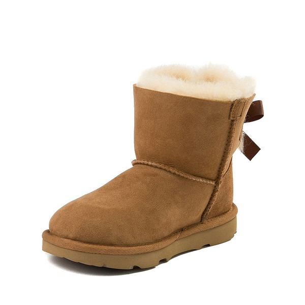 alternate image alternate view UGG® Mini Bailey Bow II Boot - Little Kid / Big Kid - ChestnutALT2