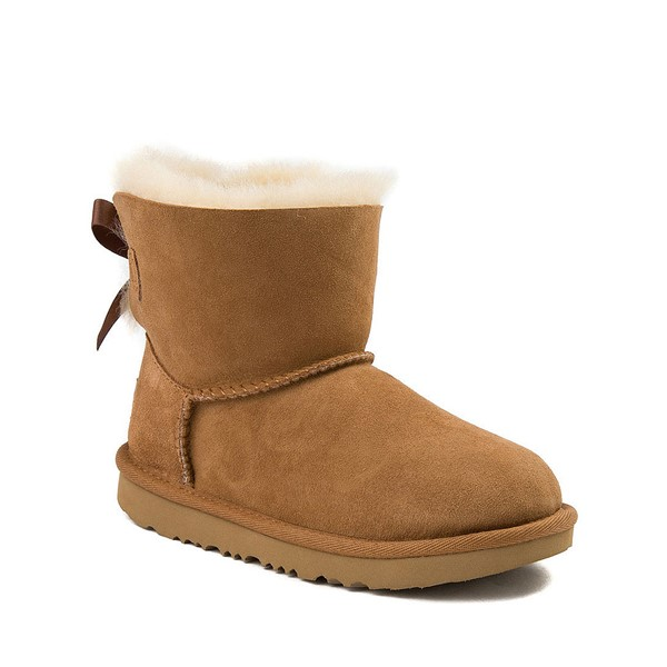 alternate image alternate view UGG® Mini Bailey Bow II Boot - Little Kid / Big Kid - ChestnutALT5