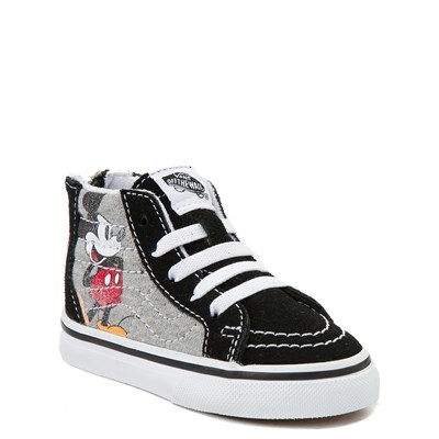 Alternate view of Disney x Vans Sk8 Hi Zip Skate Shoe - Baby / Toddler