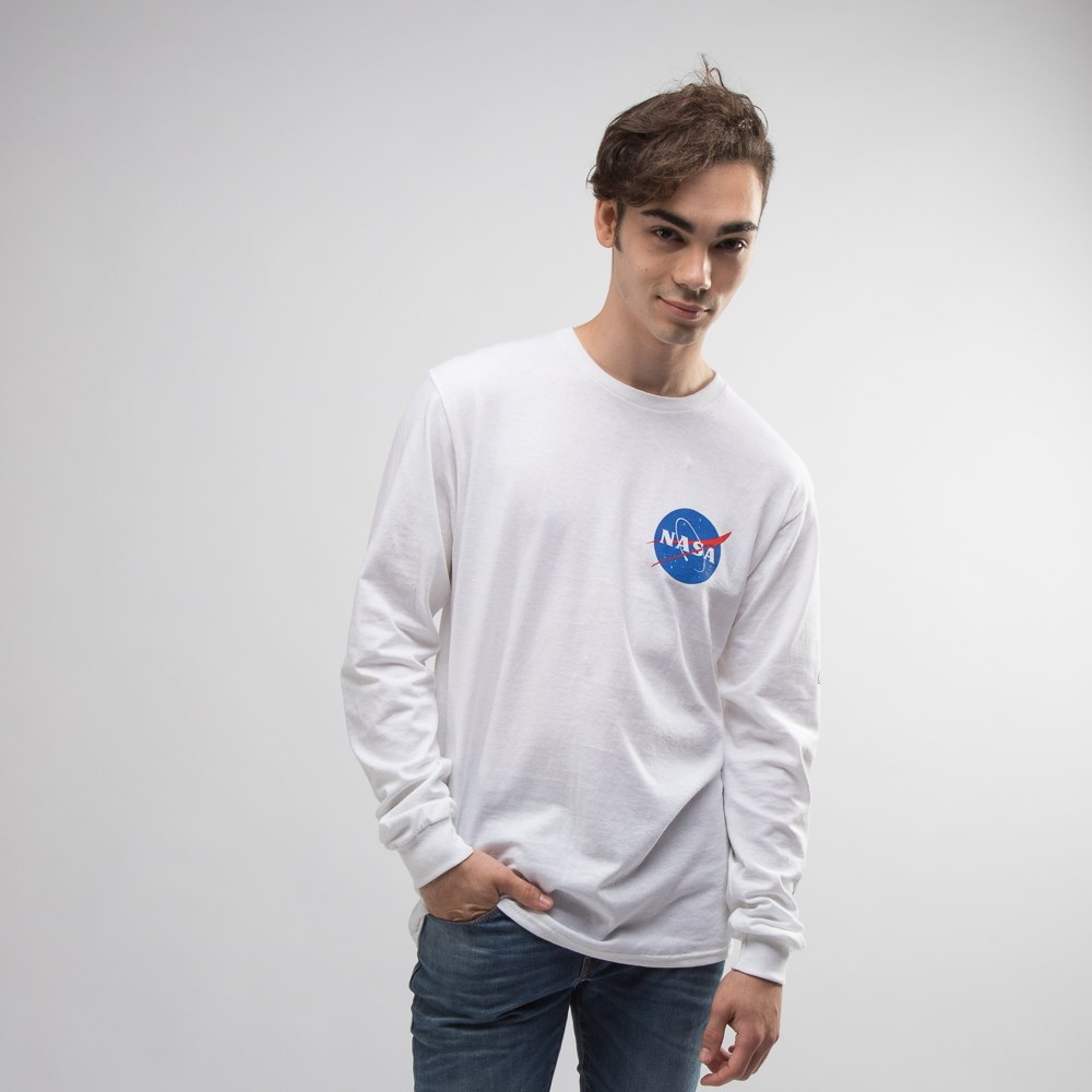 Mens NASA Space Shuttle Long Sleeve Crew Tee