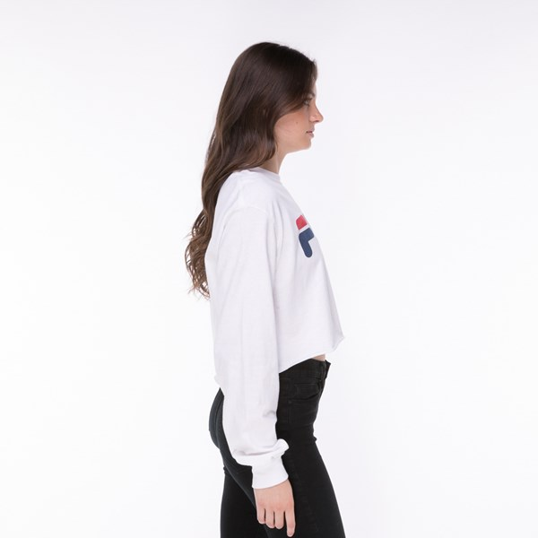 alternate image alternate view Womens Fila Cropped Long Sleeve TeeALT3
