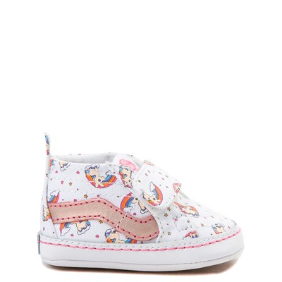 Main view of Vans Sk8 Hi Unicorn Rainbow Skate Shoe - Baby