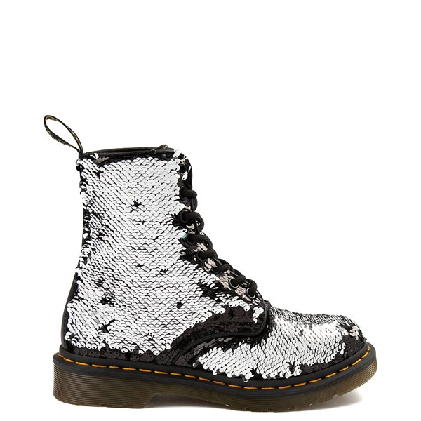 alternate image alternate view Womens Dr. Martens Pascal 8-Eye Two-Tone Sequin BootALT1