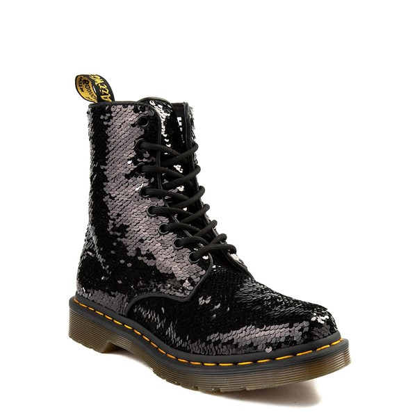 alternate image alternate view Womens Dr. Martens Pascal 8-Eye Two-Tone Sequin BootALT1B