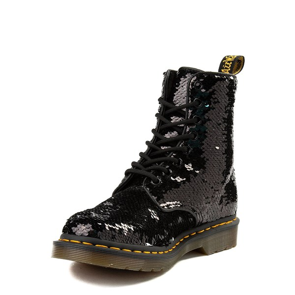 alternate image alternate view Womens Dr. Martens Pascal 8-Eye Two-Tone Sequin BootALT3