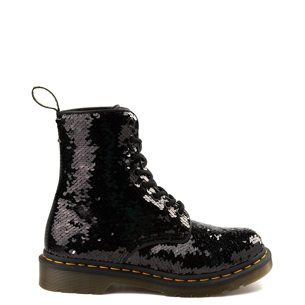 Womens Dr. Martens Pascal 8-Eye Two-Tone Sequin Boot