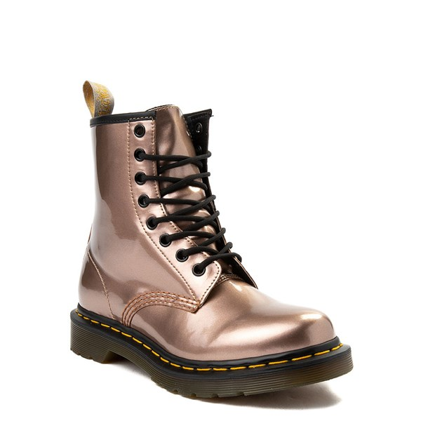 alternate image alternate view Womens Dr. Martens Pascal 8-Eye Vegan Metallic BootALT1