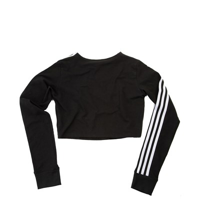 Alternate view of Womens adidas 3-Stripes Cropped Long Sleeve Tee