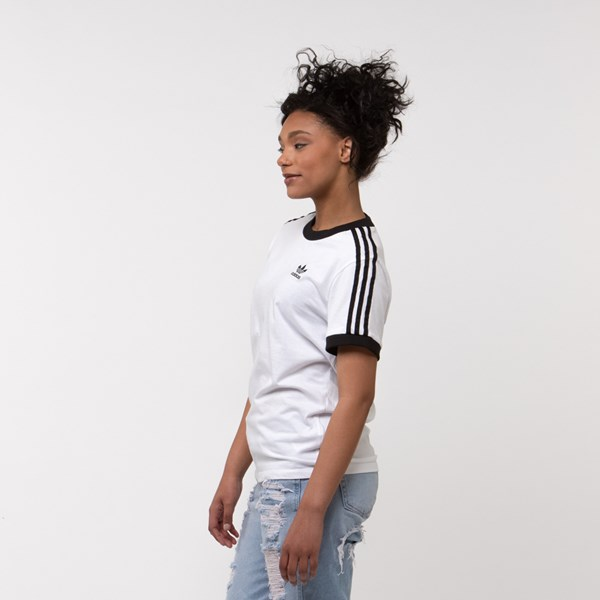 alternate image alternate view Womens adidas 3-Stripes Ringer TeeALT2