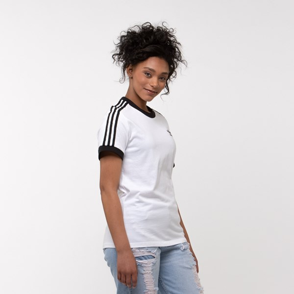 alternate image alternate view Womens adidas 3-Stripes Ringer TeeALT3