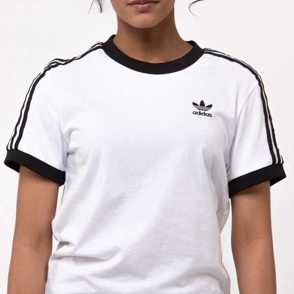 alternate image alternate view Womens adidas 3-Stripes Ringer TeeALT4