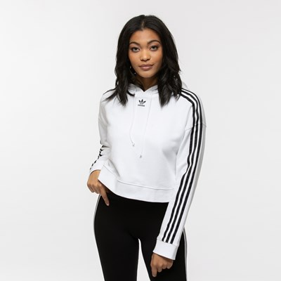 Main view of Womens adidas Cropped Hoodie