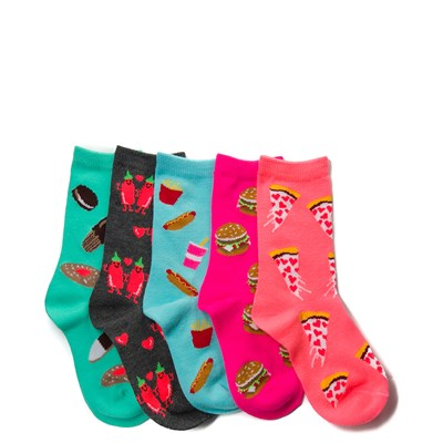 Main view of Junk Food 5 Pack Glow Socks - Girls Toddler
