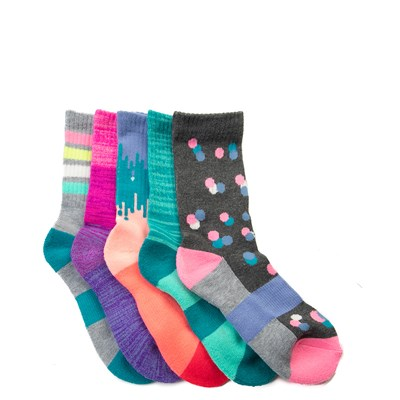 Main view of Sport Glow Crew Socks 5 Pack - Girls Little Kid