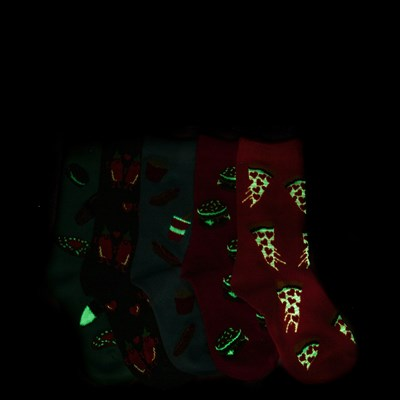 Alternate view of Junk Food 5 Pack Glow Socks - Girls Little Kid