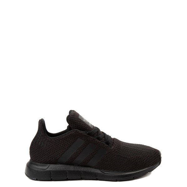 Main view of adidas Swift Run Athletic Shoe - Big Kid - Black Monochrome