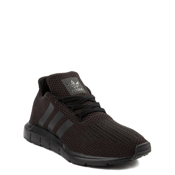 alternate image alternate view adidas Swift Run Athletic Shoe - Big Kid - Black MonochromeALT1