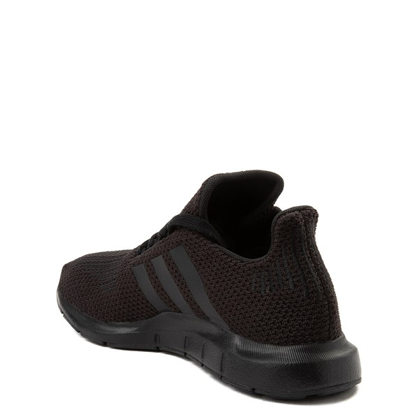 alternate image alternate view adidas Swift Run Athletic Shoe - Big Kid - Black MonochromeALT2