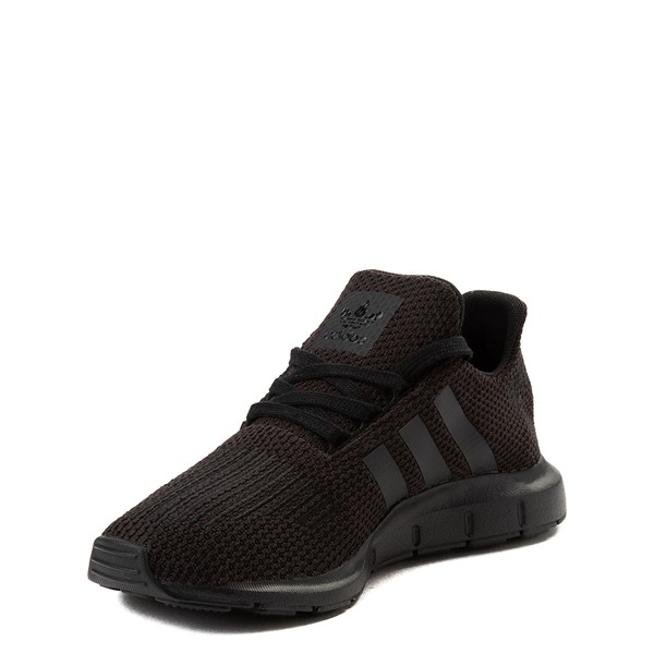 alternate image alternate view adidas Swift Run Athletic Shoe - Big Kid - Black MonochromeALT3