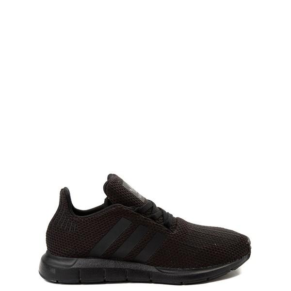 adidas Swift Run Athletic Shoe - Big Kid - Black Monochrome