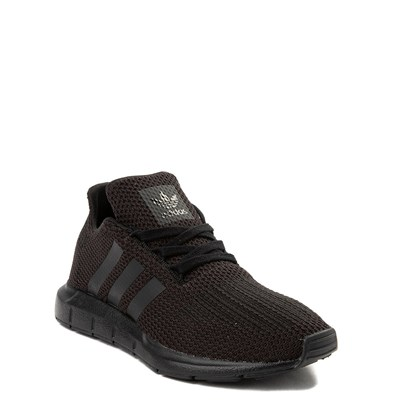 Alternate view of adidas Swift Run Athletic Shoe - Big Kid - Black Monochrome
