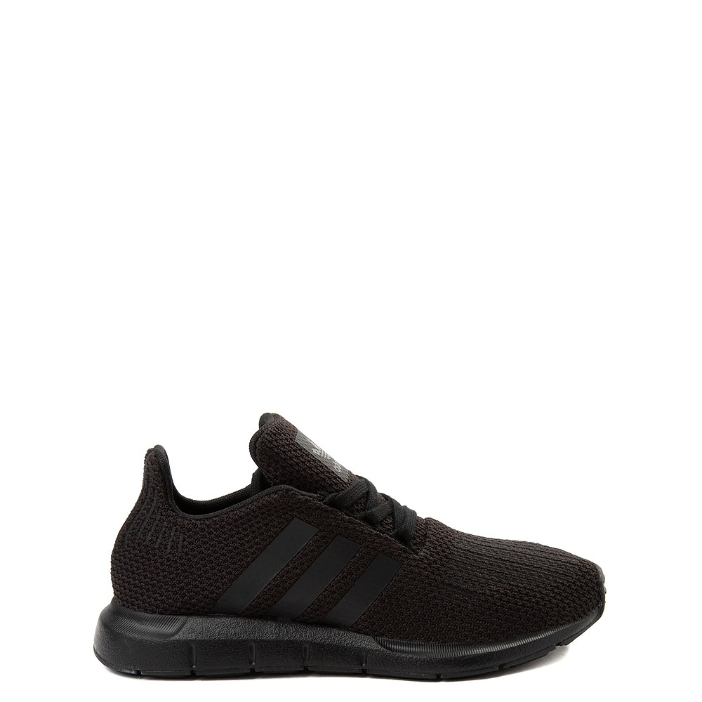adidas Swift Run Athletic Shoe - Big Kid - Black Monochrome