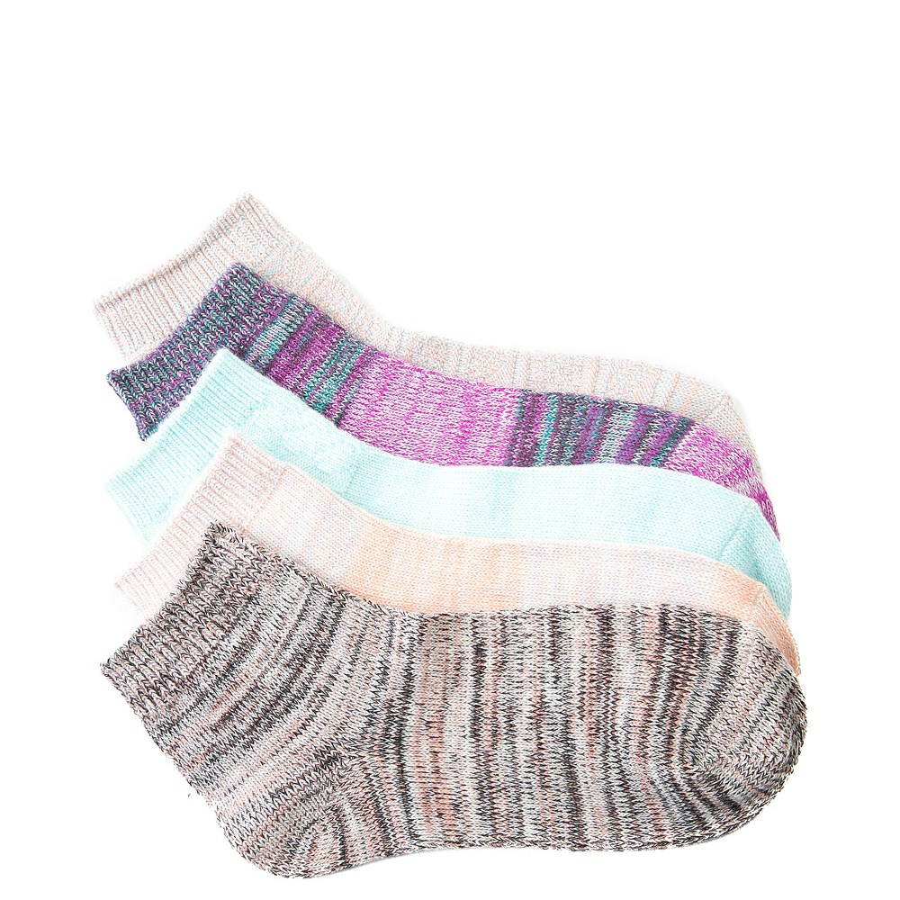 Womens Textured Ankle Socks 5 Pack