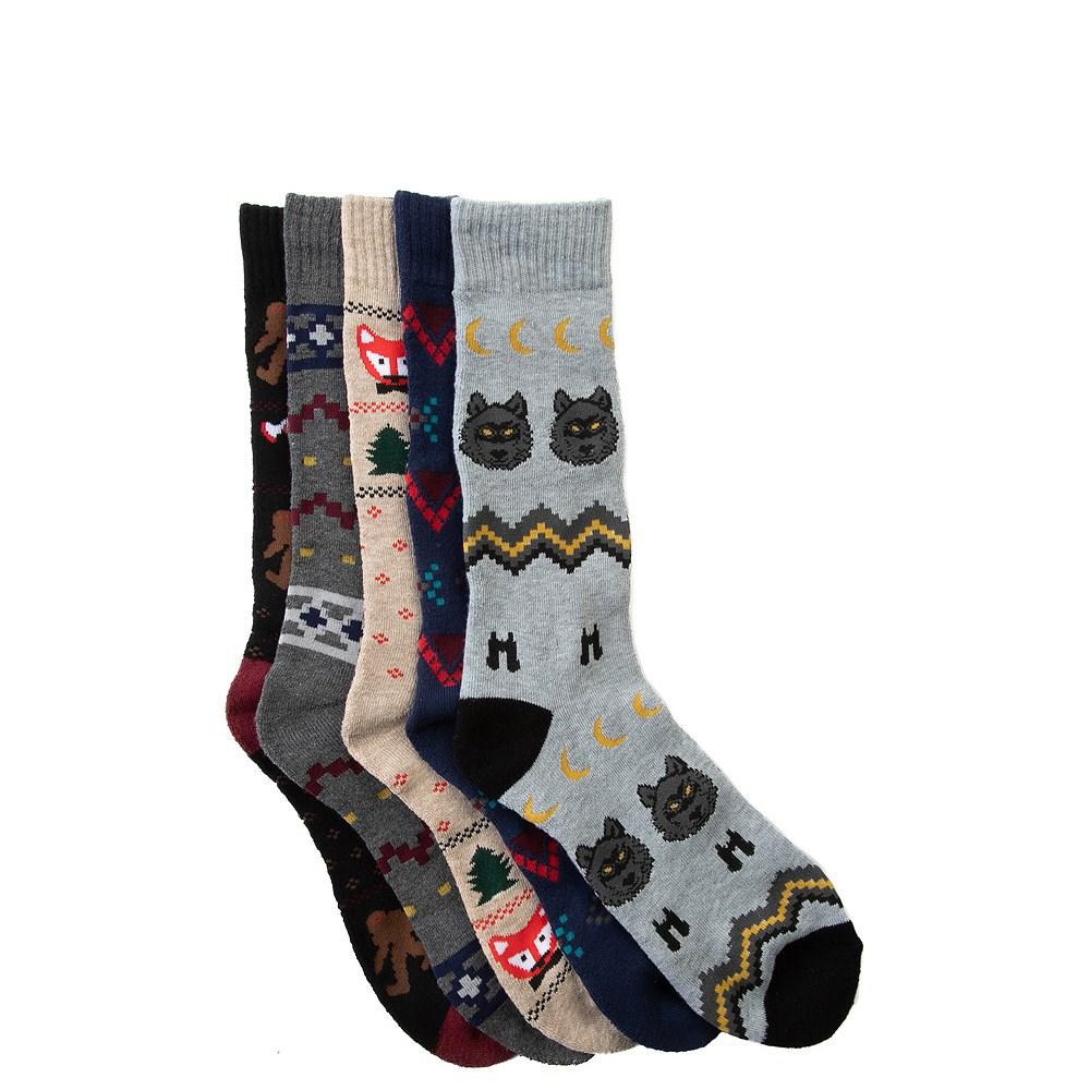 Mens Winter Sweater Crew Socks 5 Pack